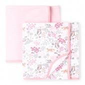 Baby Girls Sweet Deer Swaddle Blanket 2-Pack