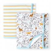 Baby Boys Bear Friends Swaddle Blanket 2-Pack