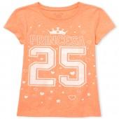 Girls Glitter Princesa 25 Graphic Tee
