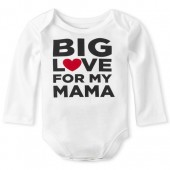 Unisex Baby Long Sleeve 'Big Love For My Mama' Graphic Bodysuit