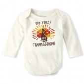 Unisex Baby 'My First Thanksgiving' Graphic Bodysuit