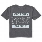 Boys Short Sleeve 'Victory Dance' Stick Figure Graphic Tee
