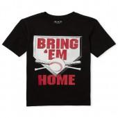 Boys Short Sleeve 'Bring 'Em Home' Baseball Graphic Tee