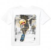 Boys Short Sleeve Emoji Skateboarder Graphic Tee