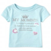 Toddler Girls Glitter 'My Mommy' Definition Graphic Tee