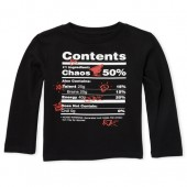 Baby And Toddler Boys Long Sleeve 'Chaos' Label Graphic Tee