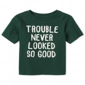 Baby And Toddler Boys Trouble Graphic Tee