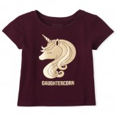 Baby And Toddler Girls Mommy And Me Daughtercorn Graphic Tee