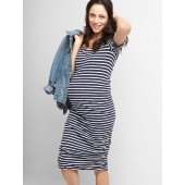 Maternity ruched t-shirt dress