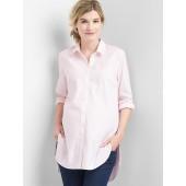 Maternity Tailored Oxford Tunic Shirt
