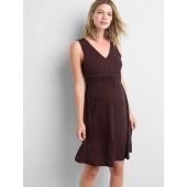 Maternity Sleeveless Crossover Dress