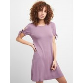 Softspun Tie-Sleeve Swing Dress