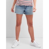 Maternity Denim Shorts with Insert Panel