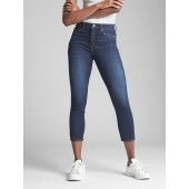 High Rise True Skinny Crop Jeans