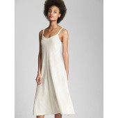 Ribbed Softspun V-Neck Midi Tank Dress