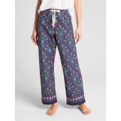Dreamer Print Drawstring Pants in Poplin