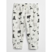 Organic Print Pull-On Pants