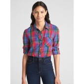Drapey Plaid Flannel Shirt