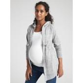 Maternity Cinched Zip Hoodie