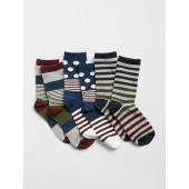 Dot Stripe Crew Socks (3-Pack)