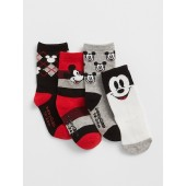 babyGap &#124 Disney Mickey Mouse Crew Socks (4-Pack)