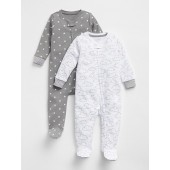 First Favorite Cloud Footed One-Piece (2-Pack)