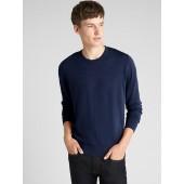 Crewneck Pullover Sweater in Pure Merino Wool