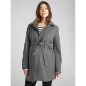 Maternity Tie-Belt Coat in Wool-Blend