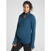 Maternity GapFit Half-Zip Pullover Sweatshirt