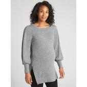 Maternity Balloon Sleeve Side-Zip Pullover Sweatshirt