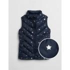 Star Print Puffer Vest