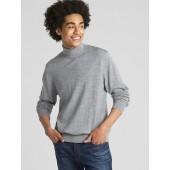 Turtleneck Pullover Sweater in Pure Merino Wool