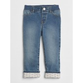 Superdenim Print-Lined Straight Jeans with Defendo