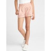 Print Linen Shorts