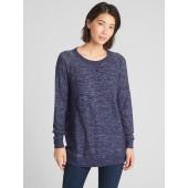 Maternity Marled Nursing Pullover Sweatshirt
