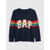 Crazy Stripe Logo Sweater