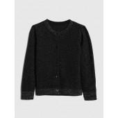 Metallic Thread Cardigan Sweater