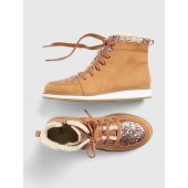 Glitter Sherpa Boots