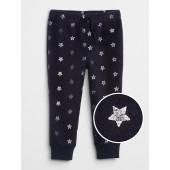 Sparkle Print Pants in Fleece