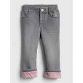 Superdenim Lined Straight Jeans with Defendo