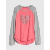 Glitter Graphic Raglan T-Shirt