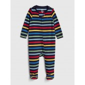 Crazy Stripe Footed One-Piece