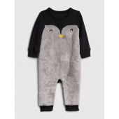 Penguin Faux-Fur One-Piece