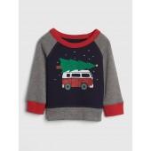Graphic Crewneck Sweatshirt in Fleece