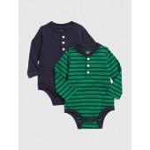 Henley Pocket Bodysuit (2-Pack)