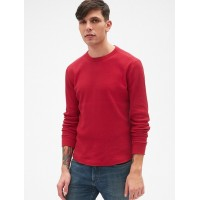 Long Sleeve Classic T-Shirt in Waffle Knit