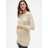 Maternity Lattice Cable-Knit Sweater Tunic