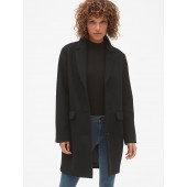 Oversized Wool-Blend Cocoon Coat