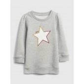 Star Applique Tunic Sweatshirt