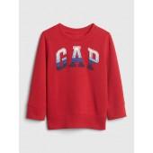 Stripe Applique Logo Sweater